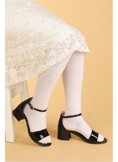 Kiko Kids Kiko 768 Ayna Kum Günlük Kız Çocuk 3 Cm Topuk Sandalet Ayakkabı Siyah
